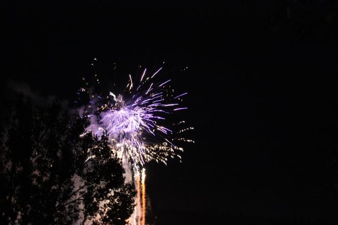 Feuerwerk über Nagold