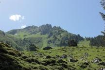 Rückweg von der Lindauer Hütte Richtung Gauertal
